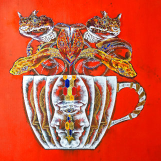 Medusa in the Tea Cup#2 2020 20x20 Original Painting - Lu Hong