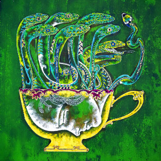 Medusa in the Tea Cup 2020 20x20 Original Painting - Lu Hong