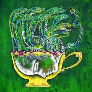 Medusa in the Tea Cup 2020 20x20 Original Painting - Lu Hong