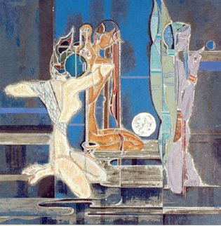 Full Moon And Water 1988 Limited Edition Print by Lu Hong