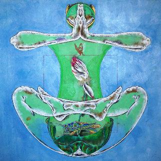 Meditated Stage 2019 40x40 Original Painting - Lu Hong
