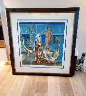 Rhyme of the Sea 1988 34x38 Super Huge Limited Edition Print by Lu Hong - 2