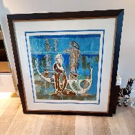 Rhyme of the Sea 1988 34x38 Super Huge Limited Edition Print by Lu Hong - 1