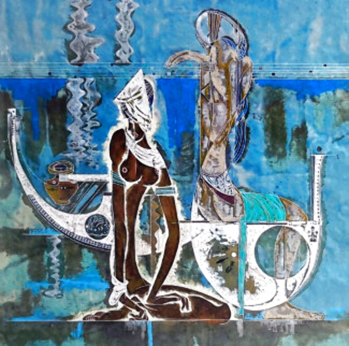 Rhyme of the Sea 1988 34x38 Super Huge Limited Edition Print by Lu Hong