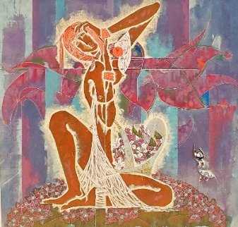 Wild Flowers 1989 Limited Edition Print - Lu Hong