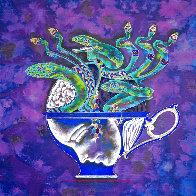 Medusa in the Tea Cup #1 2020 20x20 Original Painting by Lu Hong - 0