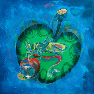 Intellectual Fruit II 2010 40x40 Original Painting - Lu Hong