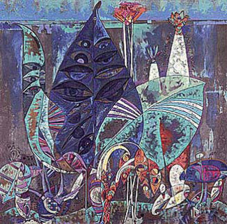 Eyes the Jungle 1990 Limited Edition Print by Lu Hong