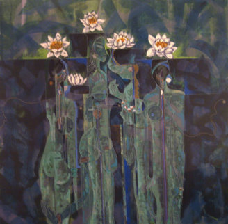 Wild Flowers AP 1990 Limited Edition Print by Lu Hong