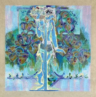 Spring Steps 1990 38x37 Huge  Limited Edition Print - Lu Hong