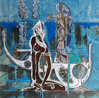 Rhyme of Sea 1988 Limited Edition Print by Lu Hong