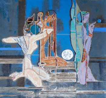 Full Moon And Water 1987 Limited Edition Print by Lu Hong