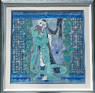 Maid and Death 1990 52x52 Super Huge Original Painting by Lu Hong - 1
