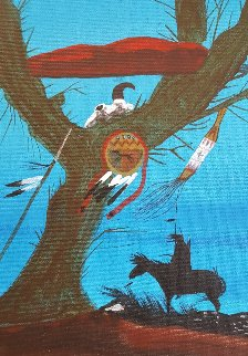 Willow 1990 24x16 Original Painting - Rance Hood