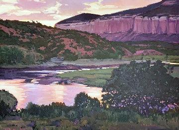 Under Swallow Mesa 36x46 Super Huge Original Painting - William Cather Hook