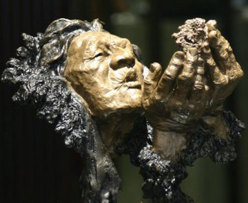 Firestarter Bronze Sculpture 1994 13 in Sculpture - Mark Hopkins