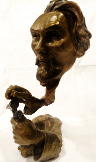 Jesse James Bronze Sculpture 2003 18 in Sculpture by Mark Hopkins