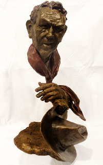Day's Work Bronze Sculpture 20 in Sculpture - Mark Hopkins