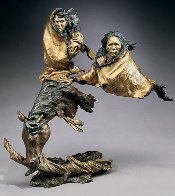 In Search of Peace Bronze Sculpture 1996 19 in Sculpture by Mark Hopkins - 0