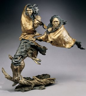 In Search of Peace Bronze Sculpture 1996 19 in Sculpture by Mark Hopkins