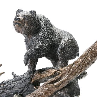 Grizzly Canyon Bronze Sculpture 1996 24 in Sculpture by Mark Hopkins