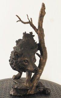 Lone Scout Bronze Sculpture 1995 13 in Sculpture - Mark Hopkins