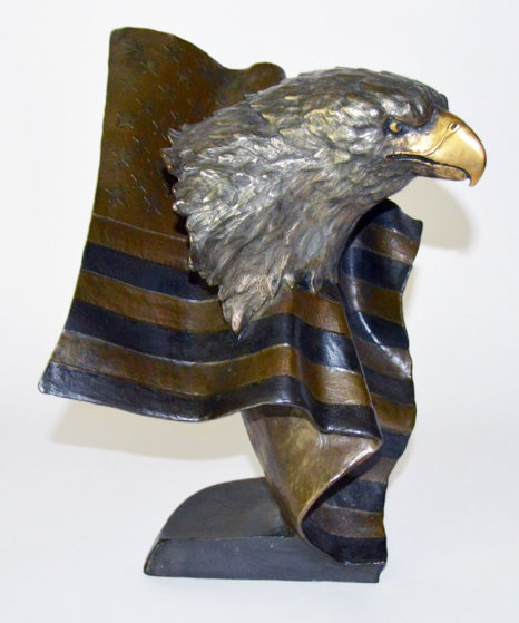 Forever Free Bronze Sculpture 1994 12 in Sculpture by Mark Hopkins