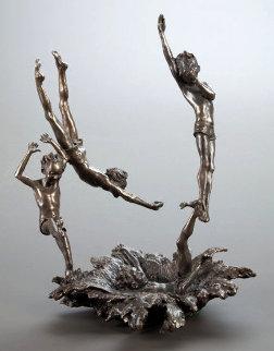Last One In Bronze Sculpture 1989 13 in Sculpture - Mark Hopkins
