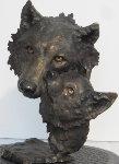 Mother's Nature Bronze Sculpture 1994 12 in Sculpture - Mark Hopkins