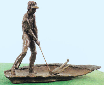 Sandtrap Bronze Sculpture 1989 10 in Sculpture - Mark Hopkins