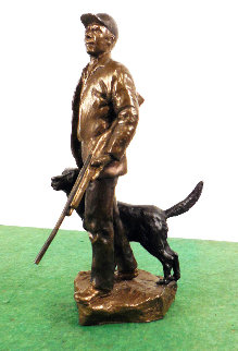 Hunters Bronze Sculpture 1997 9 in Sculpture - Mark Hopkins