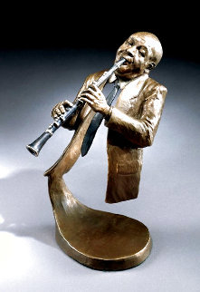 Jazz Suite: Jazz Clarinet Bronze Sculpture 1999 10 in Sculpture - Mark Hopkins