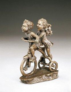 Faster, Faster! Bronze Sculpture 1989 7 in Sculpture - Mark Hopkins