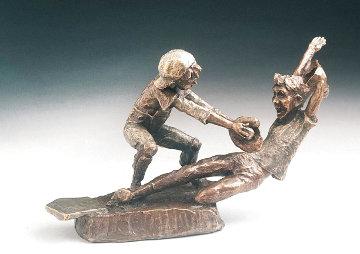 Close Call  Bronze Sculpture 1989 10 in Sculpture - Mark Hopkins
