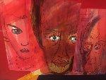 Mask Series  2007 37x32 Original Painting - Anthony Hopkins