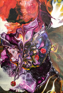 Untitled Painting 2010 8x10 Original Painting - Anthony Hopkins