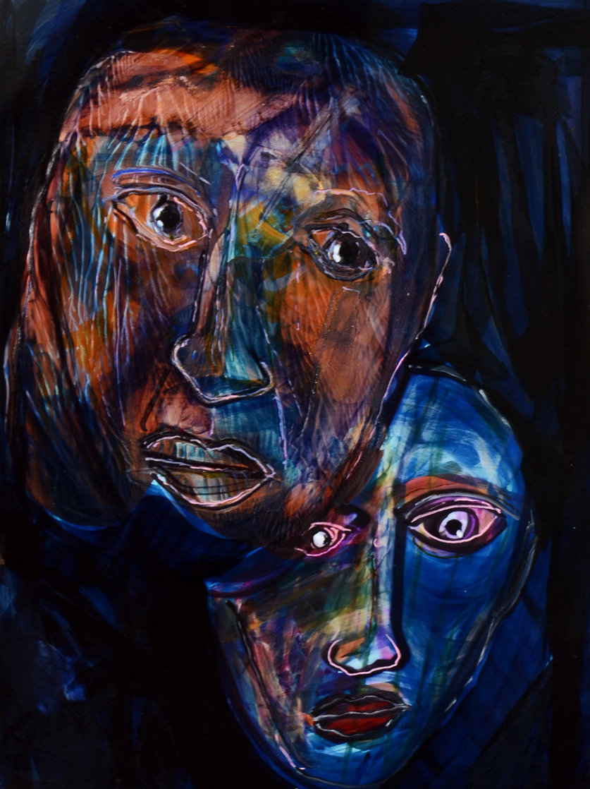 Harmonic Discord Painting 2014 32x28 Works on Paper (not prints) by Anthony Hopkins