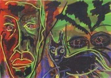 Dream Cat Limited Edition Print by Anthony Hopkins