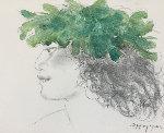 Untitled Watercolor 19x15 Watercolor - Pegge Hopper