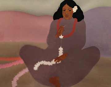 Pe'ahi Kui  Hawaii  1984 Limited Edition Print by Pegge Hopper