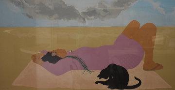 Ala Moana Beach Limited Edition Print by Pegge Hopper