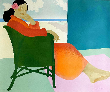 Lanikai Afternoon 1984 Limited Edition Print - Pegge Hopper