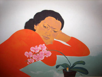 Butterfly Orchids 1983 Limited Edition Print by Pegge Hopper
