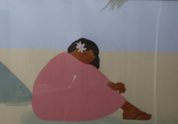 Untitled (Women on Hawaiian Beach) Set of 2 1980 Limited Edition Print by Pegge Hopper