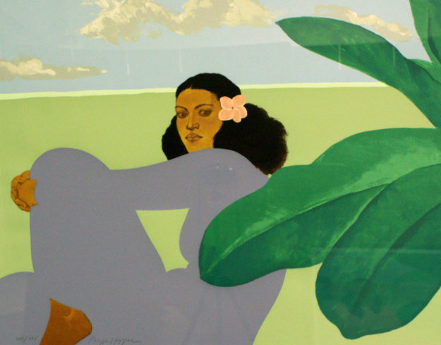 Kailua Moon Diptych 1983 Limited Edition Print by Pegge Hopper
