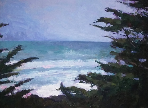 Pacific Trail 2009 34x35 Original Painting by Larry Horowitz