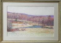 Untitled Landscape 1986 24x40 Original Painting by Larry Horowitz - 1