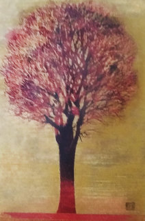 Evening Tree (Red) 1972 Limited Edition Print - Joichi Hoshi