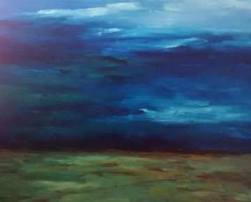 Land, Sea, And Sky  2005 36x43 Super Huge Original Painting - Tim Howe