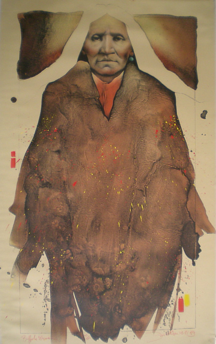 Buffalo Woman 1983 Super Huge Limited Edition Print by Frank Howell